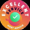 """저희는 각각 그리고 모든 회사의 고객 서비스를 개인적이고 익명으로 확인하도록 하고 있습니다.  """"훌륭함 배지""""는 즉각적이고, 효율적이며, 통찰력이 있으며 대부분 도움이 되도록 제공하는 서비스를 암시하는, HostAdvice의 매우 높은 수준의 고객 서비스를 준수하는 호스팅 회사라고 인식되는 것입니다."""
