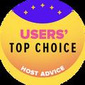 가장 높은 사용자 평가 내의 상위 10위 웹 호스팅 회사에게 수상되었습니다.